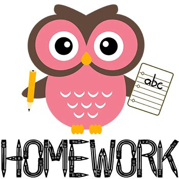 Homework for Pre-K and Kindergarten